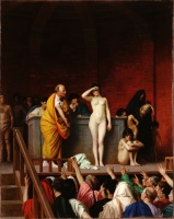 5-639. Gerome Jean-Leon. The Slave Market in Rome.