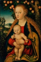 5-633. Cranach Lucas. The Virgin and Child Under an Apple Tree.
