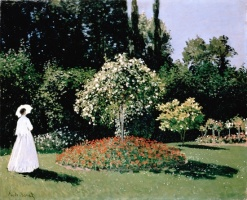 5-615. Monet Oscar-Claude. Woman in the Garden. Sainte-Adresse.