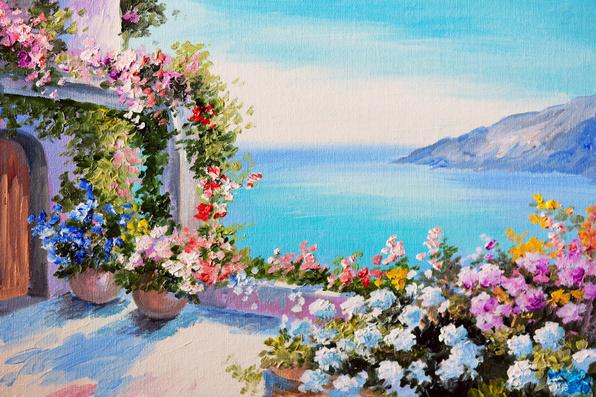 Цветы южные около моря