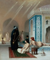 5-607. Gerome Jean-Leon. Pool in a Harem.