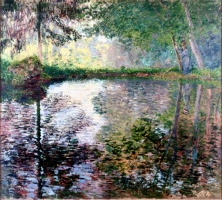 5-616. Monet Oscar-Claude. Pond at Montgeron.