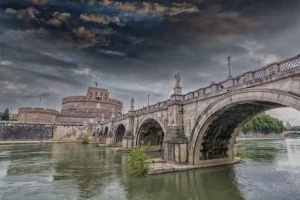20-103. Рим, Castel St. Angelo Bridge.